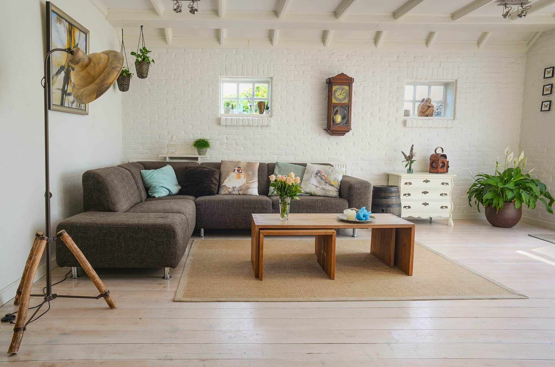 Cozy living area including vintage and modern decors designed by a M.Des interior design student