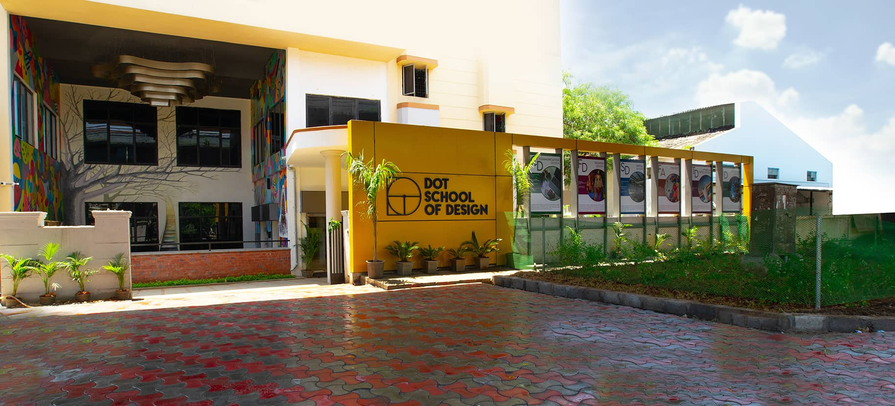 Main entrance of one of the best design colleges in India